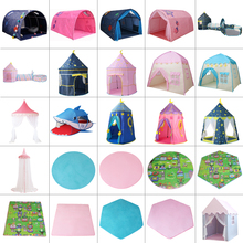 Castle Tent Game-House Zone-Room Outdoor Baby Princess Play Hut Teepee Funny Girl Infant