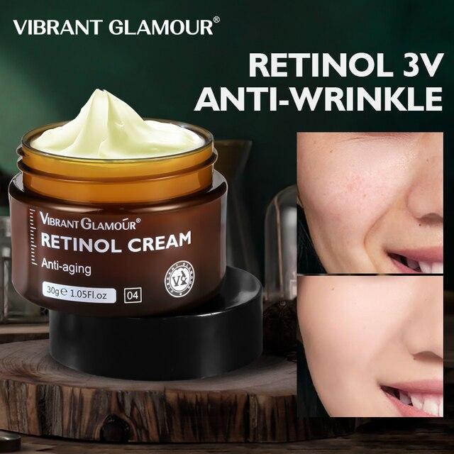 VIBRANT GLAMOUR-crema Facial Retinol, crema hidratante para el cuidado de la piel Facial, reafirmante y antiedad, blanqueador iluminador 1