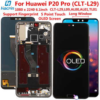 LCD For Huawei P20 Pro CLT-L29 LCD Display Touch Screen Digitizer Assembly Replacement Phone LCD For Huawei P20 Pro Screen 6.1'' недорого