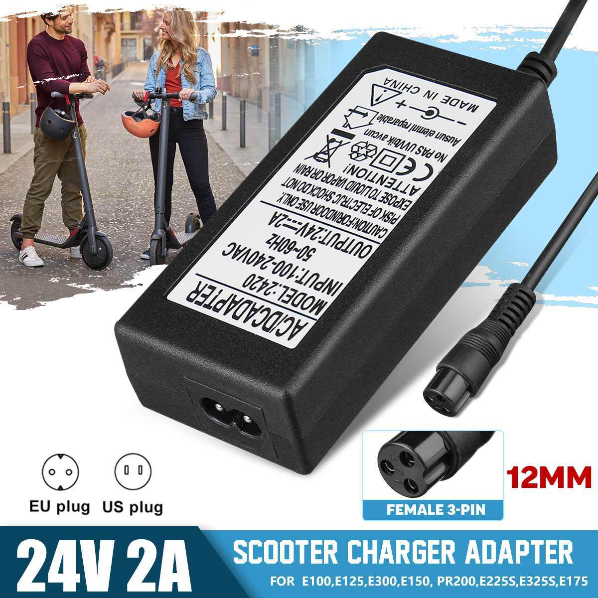 Fast Battery Charger for Razor E Series Elektrisch Scooters 24V 3-Prong AC