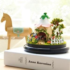 BOA pokój domek dla lalek z meblami drewniany domek dla lalek dom miniatura DIY na prezent urodzinowy dla dzieci nastrój dla miłości zabawki B015