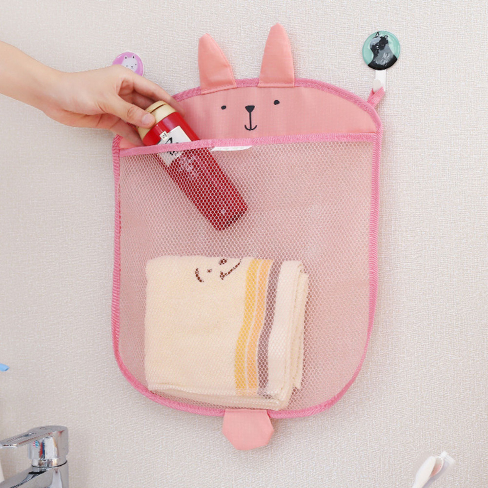 Bath Toys Baby toy storage bags bathroom mesh bag bath kids basket net cartoon animal shapes waterproof cloth sand toys storage in Bath Toy from Toys Hobbies