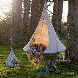 Niños adultos campamento tipi árbol gusano de seda capullo columpio silla colgante interior al aire libre Hamaca tienda Hamaca mueble para patio, sofá cama