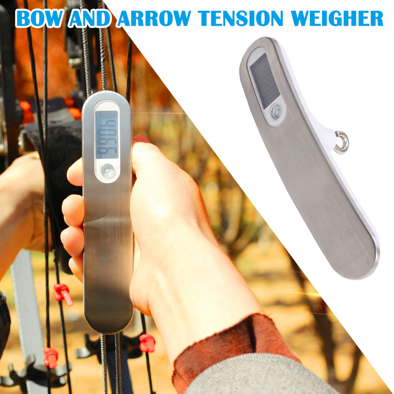 Archery Compound Recurve Bow Scale Digital Device Measuring Instrument Test Tool For Hunting ENA88