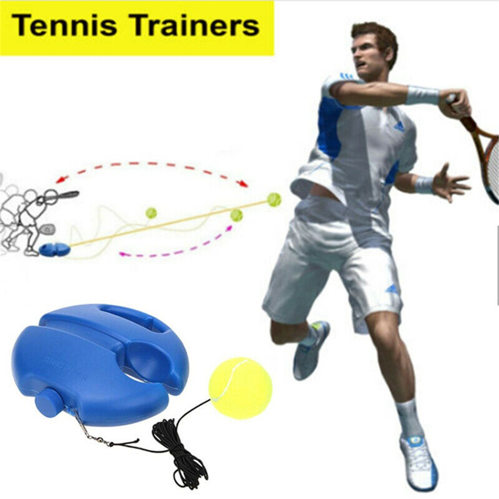 Купить с кэшбэком Tennis Supplies Tennis Training Aids Ball Trainer Self-study With Elastic Rope Base sparring device