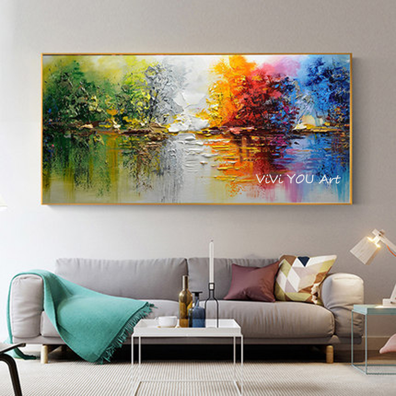 Hot Promo #da13 - Oil Painting 100% Hand Painted Modern ...