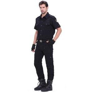 Image 4 - Herren Cargo Hose Armee Militärischen Stil Taktische Hosen Männlichen Camo Jogger Plus Größe Baumwolle Viele Tasche Männer Camouflage Schwarz hosen