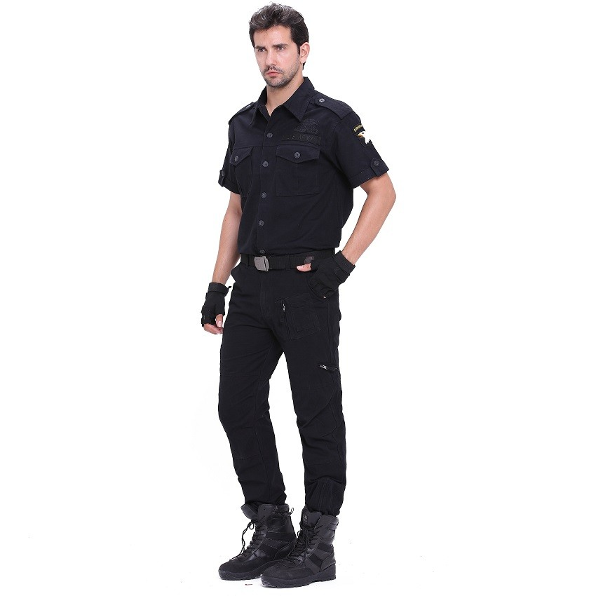 Men's Cargo Pants Army Military Style Tactical Pants Male Camo Jogger Plus Size Cotton Many Pocket Men Camouflage Black Trousers 3