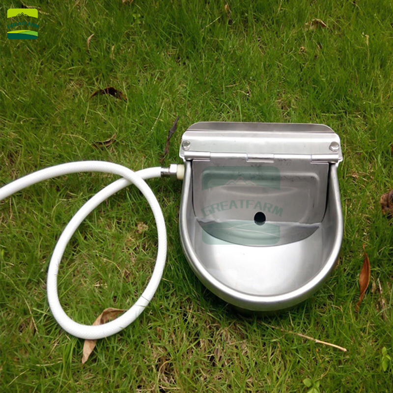Cow Drinking Bowl 304 Stainless Steel Float Ball Drinker Fountains Cattle Horse Bowl Bowl Type Automatic Water Feeder Cow Drink