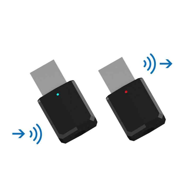 2in1 Bluetooth 5.0 Receiver Transmitter 3.5 Mm Aux USB Wireless Stereo Audio Adapter untuk Home TV MP3 PC Aksesoris Mobil