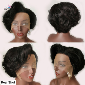 Image 3 - Pixie Cut Wig Lace Front Wigs Wavy Short Bob Remy Hair 150% Glueless Curly Human Hair Wig Pre Plucked Hairline Bleached Knot