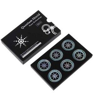 Image 1 - DHL 50 boîtes rondes scalaire bouclier quantique autocollant dénergie Ion négatif Anti rayonnement Protection pour EMF EMR Fusion autocollant de téléphone