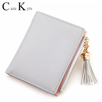 Genuine leather ladies luxury fashion short cute small wallets trendy multi-card position multi-functional designer purse