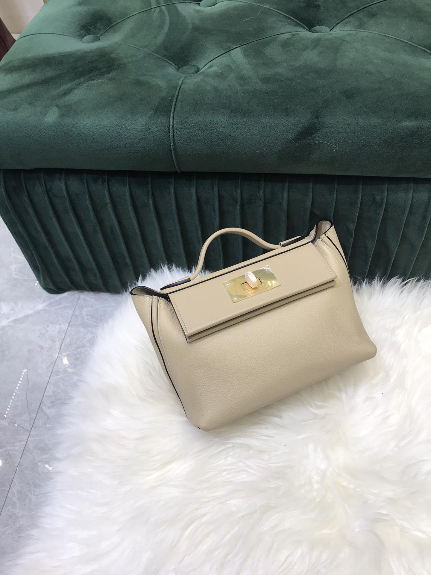 Toppe Fully Handmade LUXURY PURSE,21cm mini 2424 bag,Brand Handbag,Evercolor with swift Leather, Shoulder...