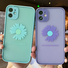 Caixas de telefone coloridas da margarida flores para o iphone 12 pro max mini 11 pro xr xs max 8x7 mais silicone macio tpu capa traseira