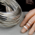 Стерлингового серебра прямоугольник плоских проволочных поясов для 925 Серебряные кольца пустой для изготовления ювелирных изделий 100 мм