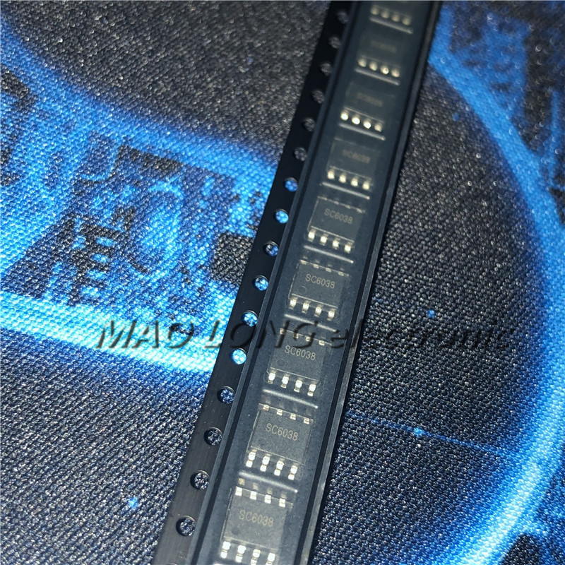 2PCS/LOT SC6038 SOP-8 6038 WS= LPS SOP8 SOP new original  In Stock Dual-cell lithium battery charging chip