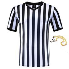 Профессиональная футбольная форма рефери, рубашки на заказ для взрослых, черно-белые футбольные майки, тренировочная одежда
