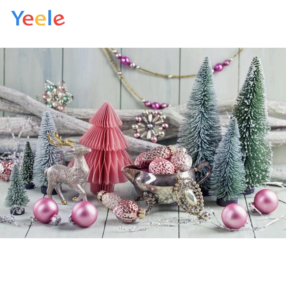 Yeele Christmas Photocall Ins Wood Decor Pine Balls Photography Backdrops Personalized Photographic Backgrounds For Photo Studio