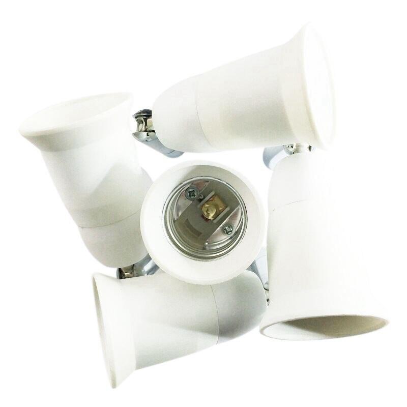 E27 5 in 1 LED Light Lamp Bulb Adapter Converter Split Splitter Base Socket