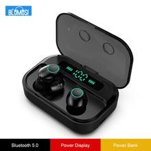 Wireless Headphones Earphones Bluetooth 5.0 TWS Hifi Stereo Earbuds Bass Headset Power Display and 1500 mAh Big Charging Case