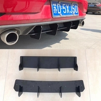 Rear Lip diffuser Trim Cover For Volkswagen VW Golf VII MK6 MK7 7.5 GTI Fins Shark Style ABS Bumper Protector Car Styling
