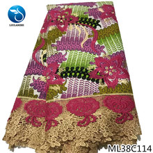 BEAUTIFICAL ankara lace fabric wax prints 2019 guipure with free shipping ML38C110-123