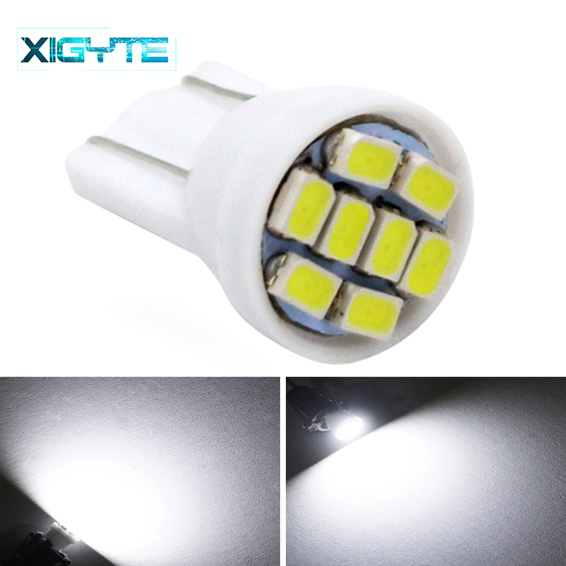 Promotion White Led T10 8 Smd Bulbs Car Light 194 168 192 W5W 3020 Auto Wedge Lamp Lighting 12V Clearance Lights Car Accessories