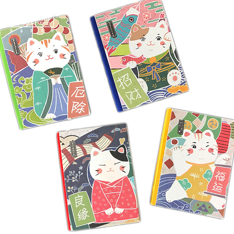 1pcs Creative 122 Sheets Lucky Cat Notebook Cute Agenda Diary Hard Cover Yearly Monthly Planning Papers Journal Notepad