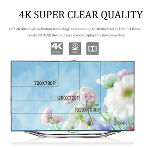 Image 5 - כבל HDMI 2.0 ספליטר 4k 1080P HD בחדות גבוהה HDMI ל HDMI כבל כבל switcher 1M 2M 3M שטוח קו עבור מתג מחשב