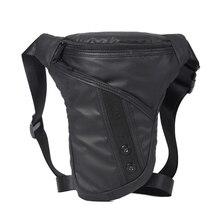 Norbinus sacs durables pour hommes, sacoche pour jambe, moto, sacoche décontracté, sacoche imperméable à lépaule, en Nylon, sac banane
