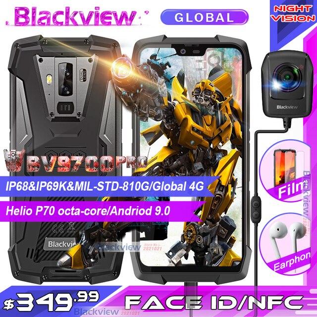 """الهاتف الذكي Blackview BV9700 Pro IP68/IP69K هاتف محمول وعر هيليو P70 ثماني النواة 6GB + 128GB 5.84 """"IPS 16MP + 8MP 4G Face ID"""