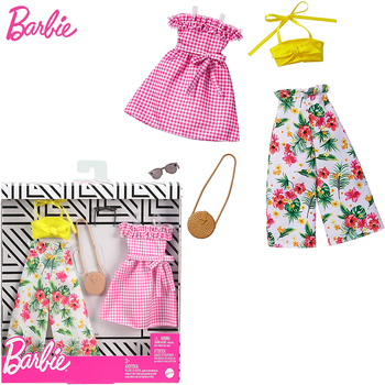 Original Barbie Accessories Clothes Fashion Outfit for 30cm Dolls Barbie Clothes Toys for Children Girls Doll Accessories Dress accessories new 11 5 12 doll clothes long tail evening party wedding party lace dress gift present for barbie outfit costumes