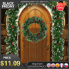 1.8/2.7M Artificial Christmas Fireplace Garland Wreath Pine Tree Ornament Christmas Tree DIY Hanging Rattan Garlands Decoration