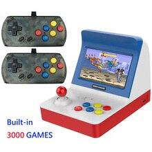 أحدث المحمولة الرجعية وحدة تحكم بجهاز لعب محمول 4.3 بوصة 64bit 3000 ألعاب الفيديو الكلاسيكية الأسرة لعبة وحدة التحكم هدية ريترو ممر