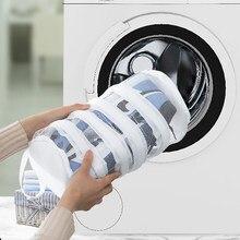 Saco de armazenamento de lavagem de sapato máquina de lavar roupa de cuidados especiais saco de lavagem de sapato doméstico saco de malha anti-deformação