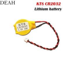 1 шт./лот 3 в оригинальная литиевая батарея KTS CR2032 CR2032W для материнской платы компьютера ноутбука с кабелем Сделано в Японии