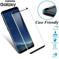 JGKK-Protector de pantalla de cristal curvado 3D para Samsung Galaxy S8, S9 Plus, Note 8, 9, Protector de pantalla amigable con el medio ambiente