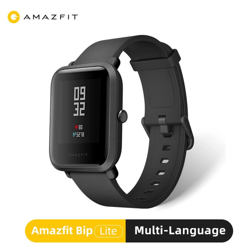 Amazfit Bip Lite Global Version Smart Watch 45-Day Battery Life 3ATM Water-resistance Sport Smartwatch For Android IOS Phone