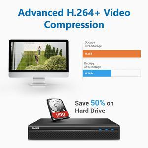 Image 4 - SANNCE 8CH 5MP FHD POE نظام أمن الفيديو H.264 + 5MP NVR مع 4X 8X في الهواء الطلق مقاوم للماء اتجاهين الصوت مايكرو IP كاميرا CCTV عدة