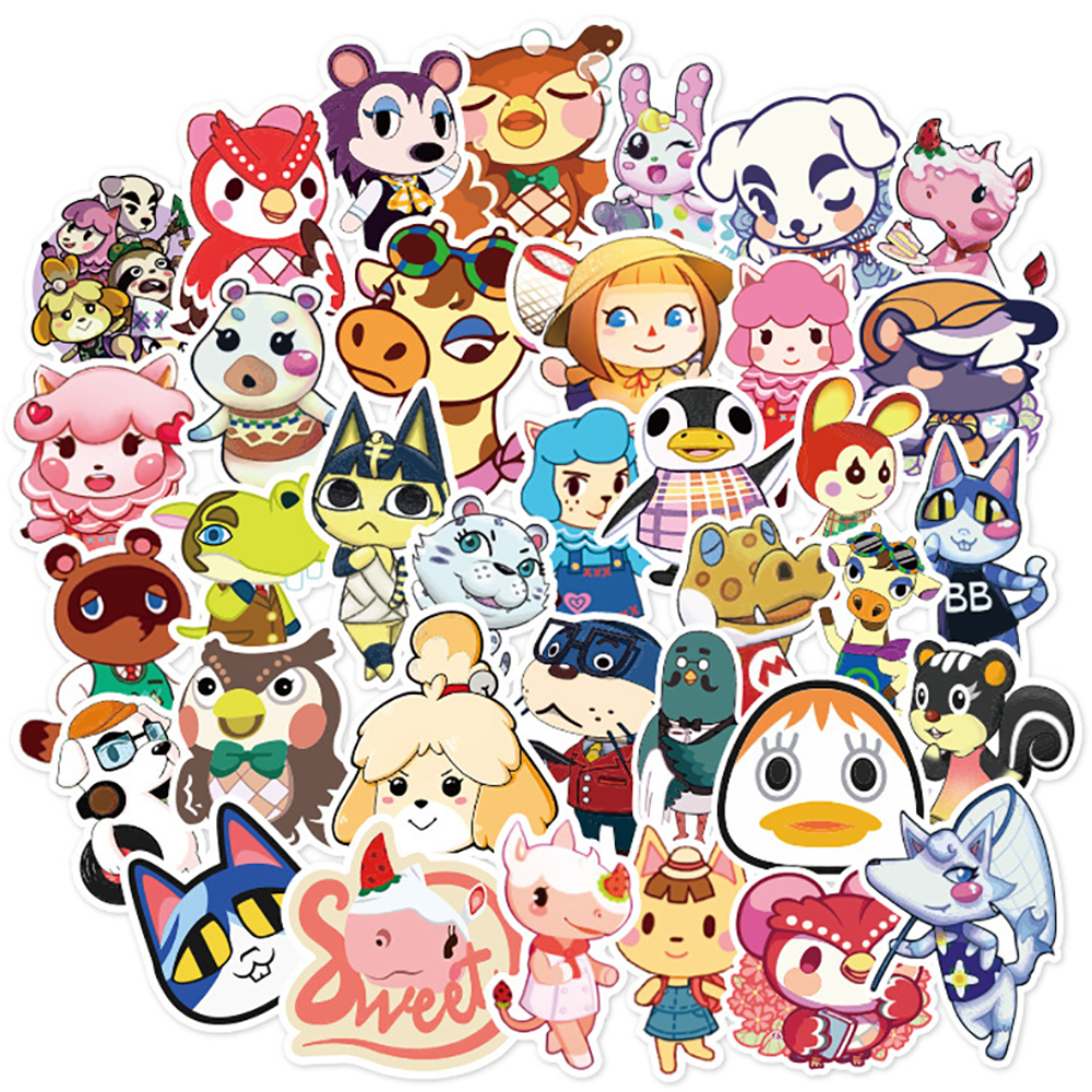 50PCS Game Animal Crossing Graffiti Stickers DIY Skateboard Fridge Guitar Motorcycle Luggage Classic Toy Stickers For Kid Gift