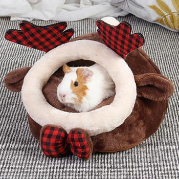 Cat Guinea Pig Hamster Chihuahua House Cartoon Dog Nest Cushion Pet Supplies Pet Cat Cave Bed Soft Fleece Chunky-Nest Bed Kennel image