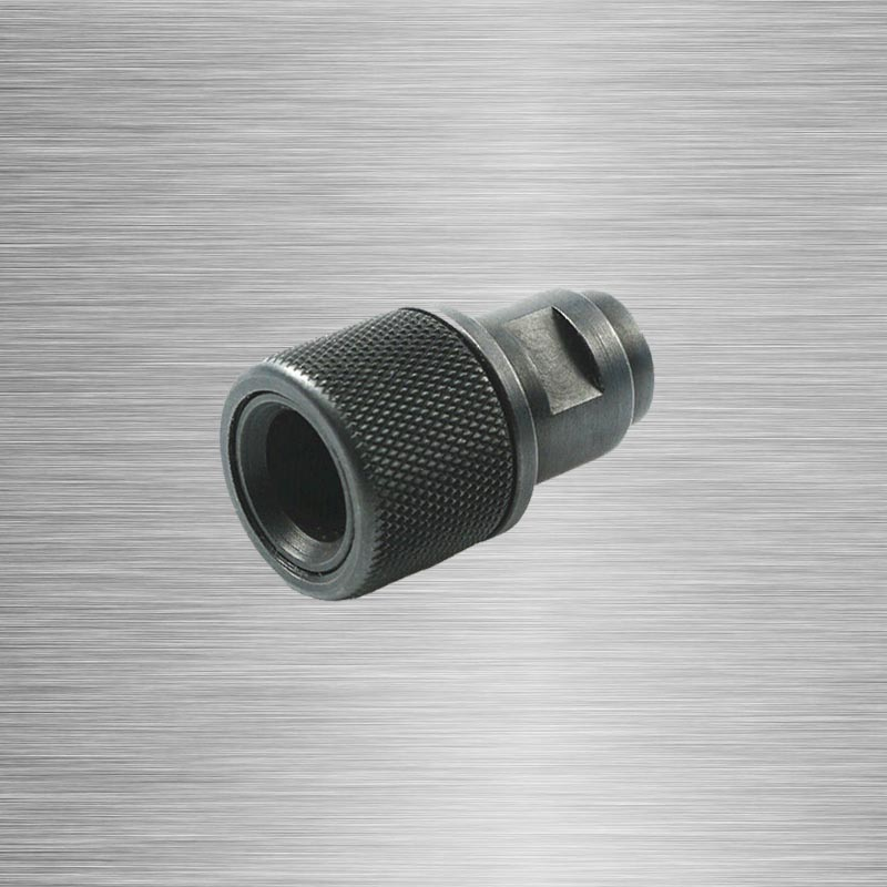 Barrel End Threaded ADAPTER M8x.75 ถึง 1/2-28 1/2-20 อะแดปเตอร์ด้าย 1/2X28 1/2X20 Walther สีดำ P22 S & W M & P22