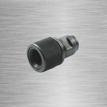 محول ملولب لنهاية البرميل M8x.75 إلى 1/2 28 1/2 20 مع واقي للخيوط 1/2x28 1/2x20 Walther أسود P22 S & W M & P22