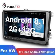 Podofo Android Radio Auto 2 Din Auto Multimedia Player GPS Stereo Für Volkswagen Skoda Sitz Octavia golf 5 touran passat b6 polo