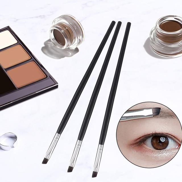 Angled Eyebrow Brush Gel Eyeliner Brush Makeup Brushes Beauty Blending Eye Professional Make Up Bevel Brush Tools for Eye Brow 1