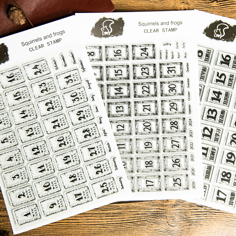 1pcTransparent Silica Stamp Stamp Greetings Seal For Photo Album Paper Craft Decorative DIY Stamp Schedule Planner