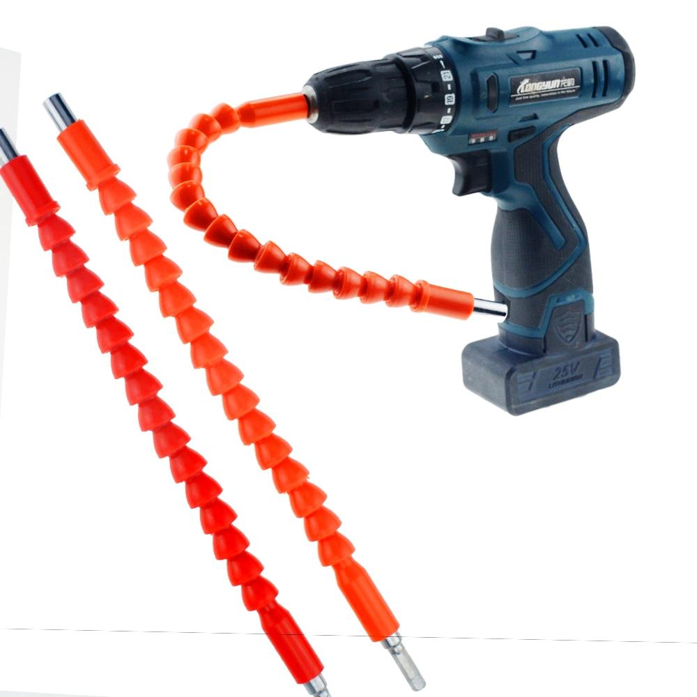 1pcs 295MM Plastic Metal Soft Universal Flexible Shaft Electric Screwdriver Batch Of Head Hex Shank Extension Drill Bit Holder