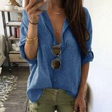 Sexy Women Deep V-neck Shirt Female Loose Long Sleeve Blouse Autumn Plus Size Shirts Tops