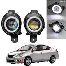 2PCS Fog Lamp Assembly Super Bright LED Fog Light For Nissan Sunny 2003-2015 For Nissan Qashqai Qashqai+2 J10 2007-2013